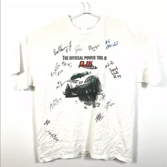 hitachi hxp tee DJK racing Lithium Ion Autographed